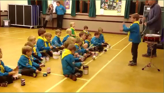 Beavers drumming